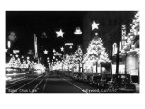 Hollywood, California - Santa Claus Lane Parade on Hollywood Blvd Poster by  Lantern Press