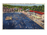 Charleston, West Virginia - Rock Lake Swimming Pool View Posters by  Lantern Press