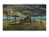 Cleveland, Ohio - Euclid Beach; Interior View of Rollerskating Rink Prints