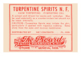 Turpentine Spirits N.F. Posters