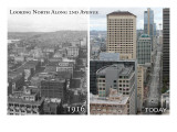 Smith Tower - Seattle, Washington - Then and Now Prints by  Lantern Press