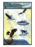 Glacier Bay, Alaska - Nautical Chart Prints by  Lantern Press