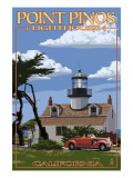 Point Pinos Lighthouse - Monterey, California Print by  Lantern Press