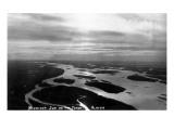 Alaska - Midnight Sun on the Yukon River Art by  Lantern Press