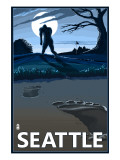 Bigfoot Scene in Seattle, WA Posters
