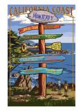 Monterey, California - Destination Sign Prints by  Lantern Press