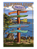 Monterey, California - Destination Sign Prints