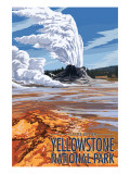 Castle Geyser - Yellowstone National Park Posters