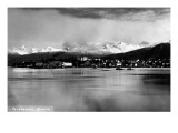 Petersburg, Alaska - Panoramic View of Town from Water Posters by  Lantern Press
