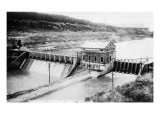 Idaho - Govt Diversion Dam on Boise River Print by  Lantern Press