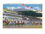 Miami, Florida - Hialeah Park; Parading to the Post Scene Posters by  Lantern Press