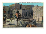 Oraibi, Arizona - Hopi Snake Priest Enters Snake Kiva Posters by  Lantern Press