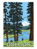 Mt. Hood and River - Oregon Scene Posters
