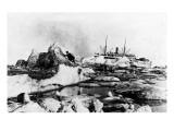 Alaska - SS Victoria Passing Ice Chunks Poster