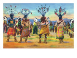 Apache Indians Dance the Devil Dance Prints