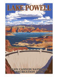 Lake Powell Dam View Art by  Lantern Press