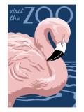 Flamingo - Visit the Zoo Plakaty autor Lantern Press