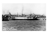 San Francisco, California - Ships of all Nations Docked Art