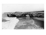 Santa Cruz, California - View of Arch Rock along West Cliff Drive Prints by  Lantern Press
