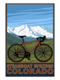 Steamboat Springs, CO - Mountain Bike Art by  Lantern Press