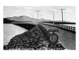 Sandpoint, Idaho - World's Longest All-Wooden Bridge Kunstdrucke