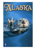 Alaska - Sea Otter Posters by  Lantern Press