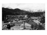 Estes Park, Colorado - Snowy Mountains from Town Art by  Lantern Press
