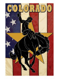 Colorado Bucking Bronco Posters by  Lantern Press
