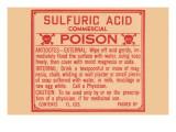 Sulfuric Acid Print