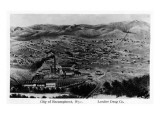 Encampment, Wyoming - Aerial View of Town Posters
