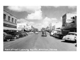 McAllen, Texas - Northern View up Main Street Prints