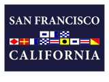 San Francisco, California - Nautical Flags Art by  Lantern Press