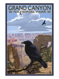 Grand Canyon National Park - Ravens and Angels Window Prints by  Lantern Press