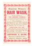 Erasmus Wilson's Hair Wash Poster