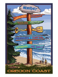 Newport, Oregon - Sign Destinations Posters by  Lantern Press