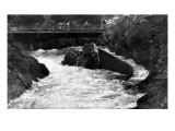 Ketchikan, Alaska - Ketchikan Creek Falls, Fish Ladder Poster by  Lantern Press