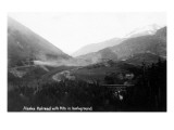 Alaska - Railroad with Mts in Background Prints by  Lantern Press