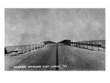 Port Lavaca, Texas - View of the Approaching Causeway Poster von  Lantern Press