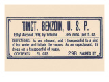 Tincture Benzoin, U.S.P. Posters