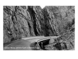 Colorado - Thompson Canyon Curved Bridge between Cliffs Prints by  Lantern Press