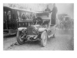 Armored Automobile Juxtaposed With Trolley Car & Horse Team on a City Street In Turkey Poster