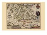 The Area Around Utrecht Print by Pieter Van der Keere