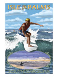 Isle of Palms, South Carolina - Surfing Scene Posters