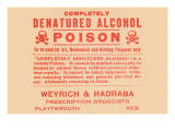 Completely Denatured Alcohol Poison Poster