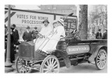 Washington Poster Advertising Company Truck Carries Suffragettes Prints