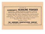 Schreiner's Alkaline Powder Posters