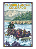 Poudre Canyon, Colorado - Rafting Posters by  Lantern Press