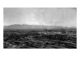 Tucson, Arizona - Panoramic View of City Art