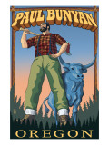 Paul Bunyan - Oregon Print by  Lantern Press