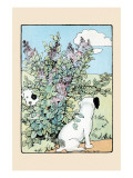 Snip And Snap Play In the Lilac Bushes Prints by Julia Dyar Hardy